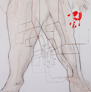 untitled top, 2010  100x200cm, dyptich, mixed media on canvas