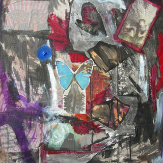 anxiety, 2007  76x76cm, mixed media